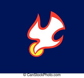 espíritu, santo, fuego