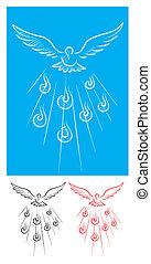 espíritu, santo, paloma