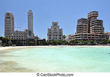 España cuadrada de Santa cruz. Tenerife Island, canarios
