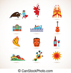 España Love - set of vector icons