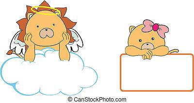 Espacio de caricaturas del ángel león