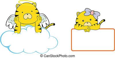 Espacio de dibujos animados de Tiger Angel