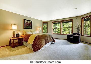 Espacio dormitorio principal con cama cómoda