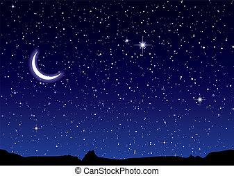 espacio, paisaje, luna