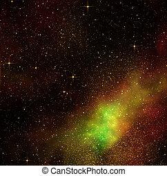 espacio, profundo, cosmos, estrellas
