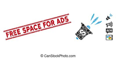 espacio, rupor, anuncios, mosaico, watermark, noticias, financiero, libre, angustia, líneas