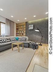 Espacio sala gris