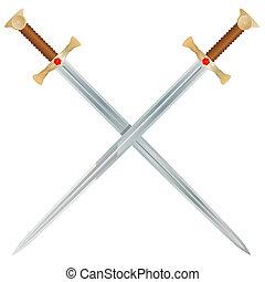 Espadas de vector