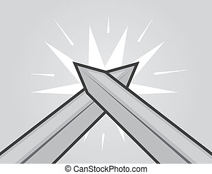Espadas golpeando
