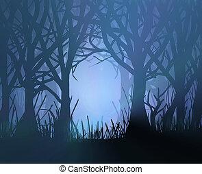 Espantoso bosque oscuro.