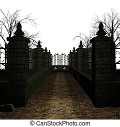 Espantoso cementerio