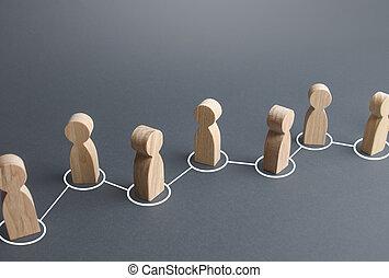 esparcimiento, interacción, links., exchange., información, assistance., gente, público, conectado, rumor, sociedad, collaboration., cooperación, society., personas, lines., cadena, unidad, comunicación