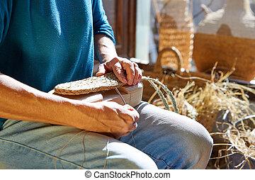 Esparto Halfah artesanía artesanal