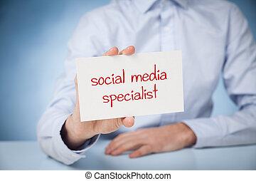 especialista, medios, social