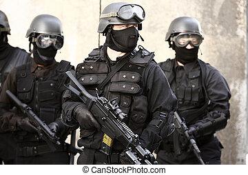 especializado, policía, unidad