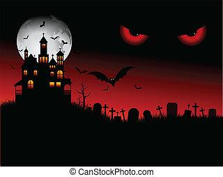 Espectacular escena de Halloween