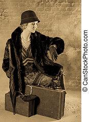 esperar, años 20, dama, estilo