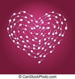 esperma, corazón