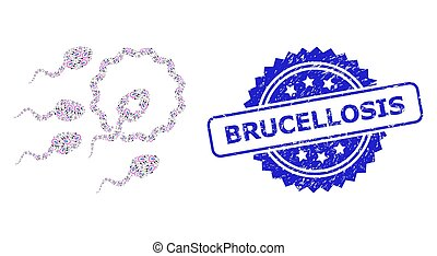 esperma, mosaico, brucellosis, icono, textured, recursion, inseminación, watermark