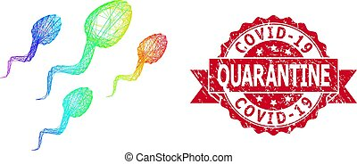 esperma, sello, estampilla, lgbt, tramado, grunge, covid-19, cuarentena, células, coloreado