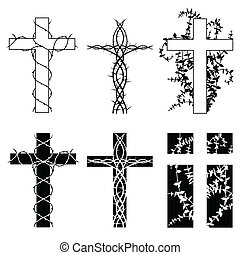 espina, cruces