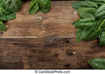 Espinacas frescas