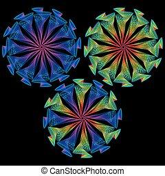 espirales de diseño abstractos