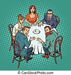 Espiritismo oculto, gente en la mesa