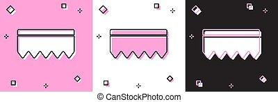 esponja, mechón, fondo., negro, limpieza, burbujas, rosa, bast, logo., vector, icono, aislado, dishes., lavado, blanco, ilustración, conjunto, servicio