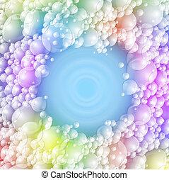 espuma, colorido