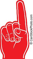espuma, dedo