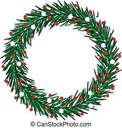 Esquela corona de Navidad