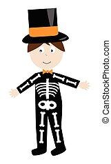 esqueleto, disfraz