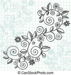 Esquetchy doodle vides diseño vector