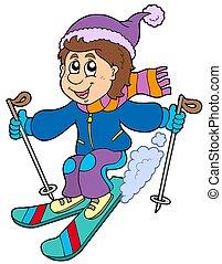 Esquiador de cartones