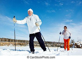 Esquiar gente