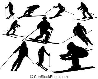 Esquiar siluetas