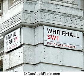 esquina, calle que traga, whitehall