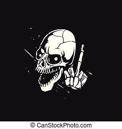 Esquirla de la ilustración del vector del cráneo