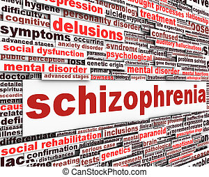 Esquizofrenia concepto de mensaje