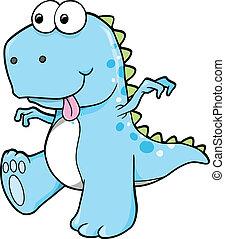 Estúpido dinosaurio azul
