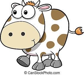 Estúpido vector de animales de vaca