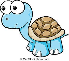 Estúpido vector de tortuga azul