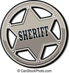 estaño, insignia, alguacil