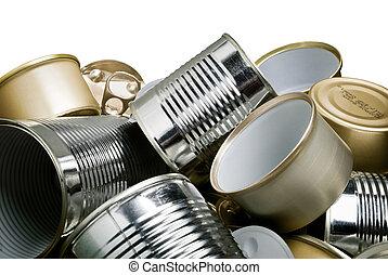estaño, reciclaje, latas