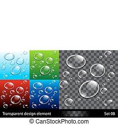 Establece antecedentes con burbujas coloridas