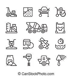 Establece iconos de concreto