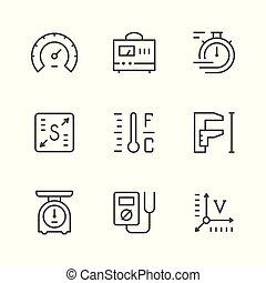 Establece iconos de medida