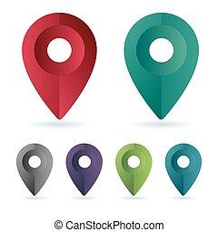 Establece la ubicación del pin de color