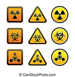 Establece símbolos de alerta de peligro de peligro